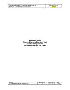 AR Functional RequirementsSoftware AREA - Software functional requirements