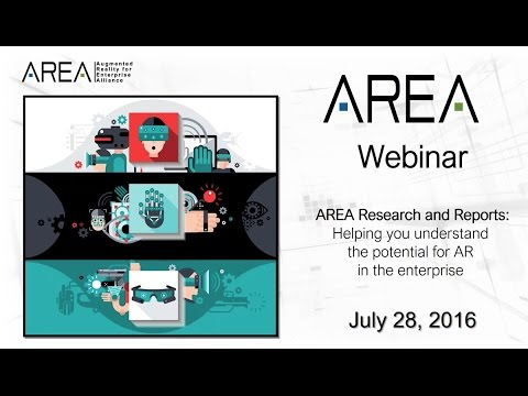 AREA Webinar | AREA Studies, Surveys and Technical Reports