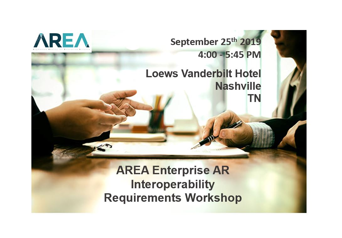 AREA Enterprise AR Interoperability Requirements Workshop
