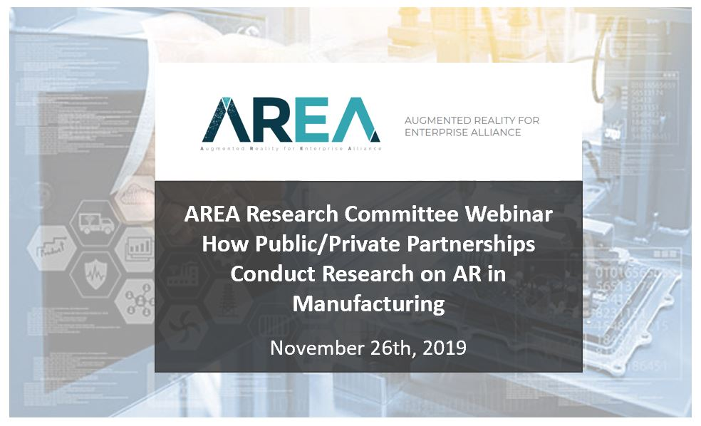 How Public/Private Partnerships Conduct Research on AR in Manufacturing