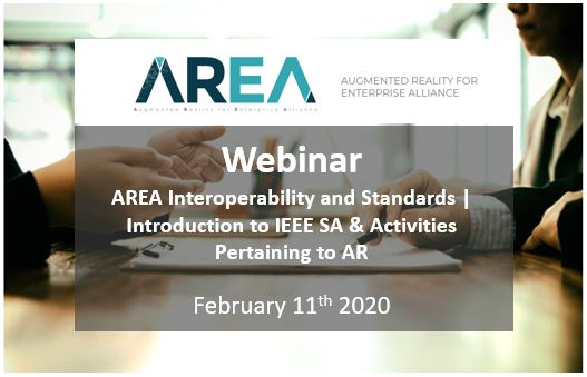AREA Interoperability and Standards Webinar | Introduction to IEEE SA & Activities Pertaining to AR