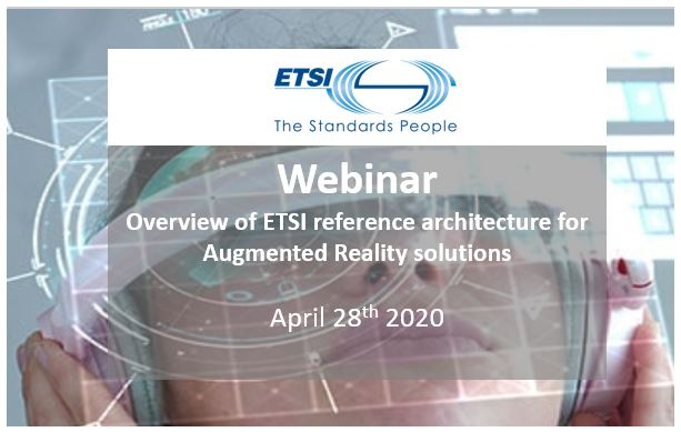 Webinar | ETSI Reference Architecture for Augmented Reality Solutions