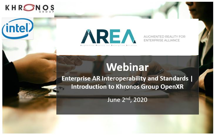 AREA Interoperability & Standards Webinar | Introduction to Khronos Group OpenXR