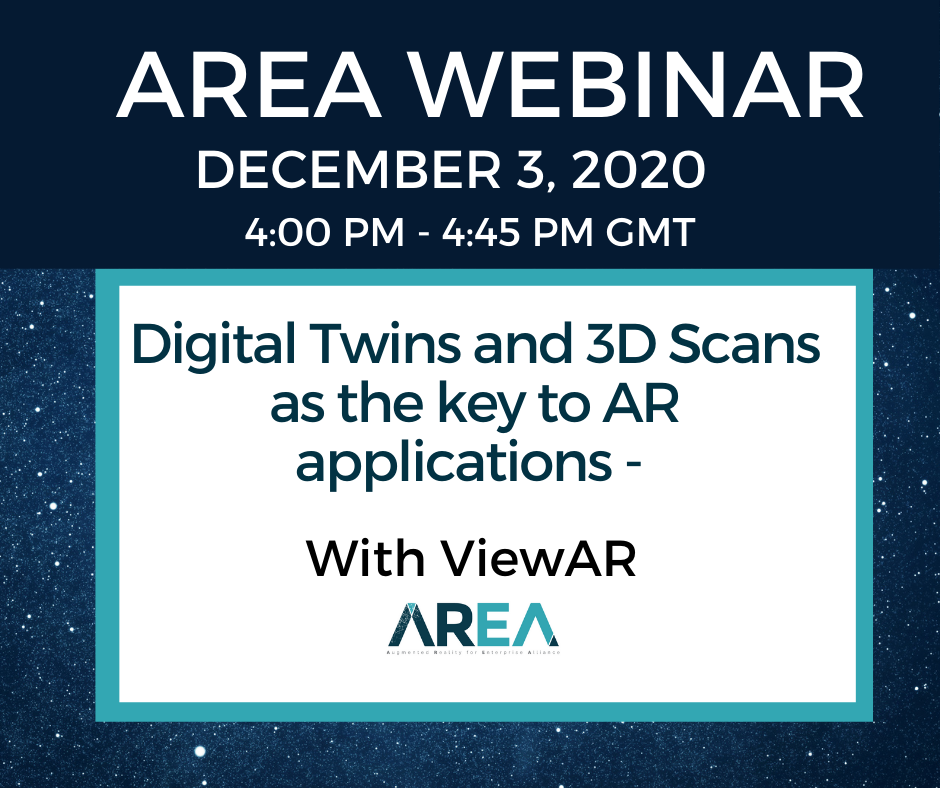 AREA Thought Leaders Network | Digital Twins and 3D Scans as the key to AR applications (navigation & instructions & IOT data)