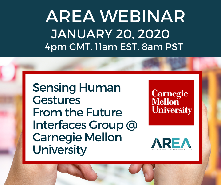 AREA Webinar | Sensing Human Gestures – from the Future Interfaces Group @ Carnegie Mellon University