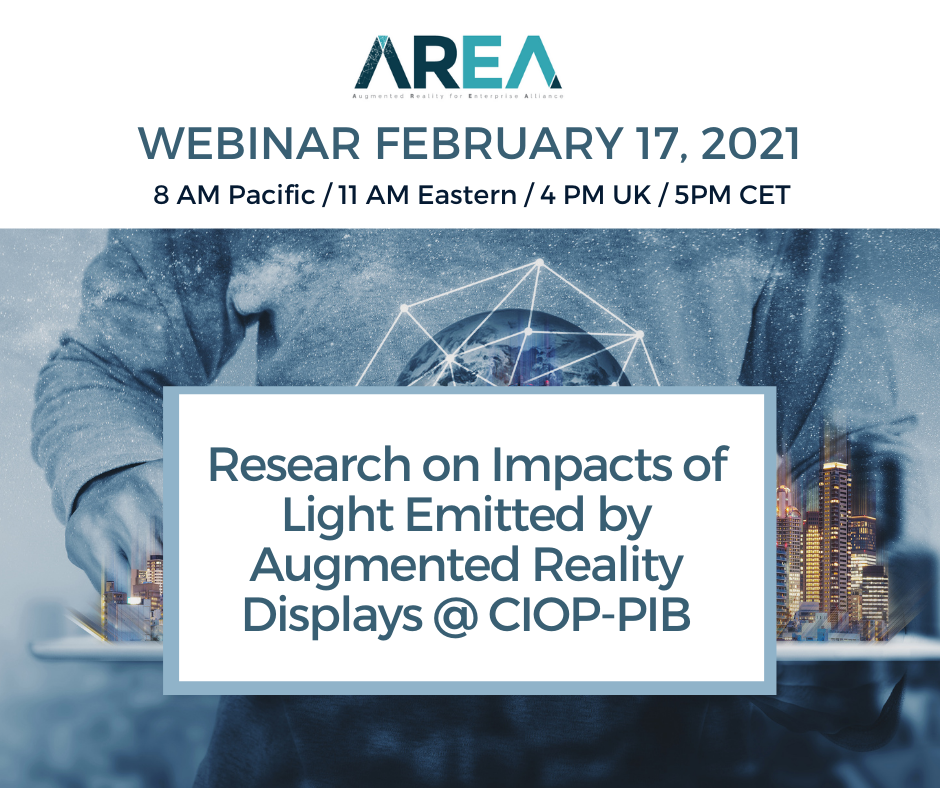 AREA Research Committee Webinar – Research on Impacts of Light Emitted by AR Displays @ CIOP-PIB