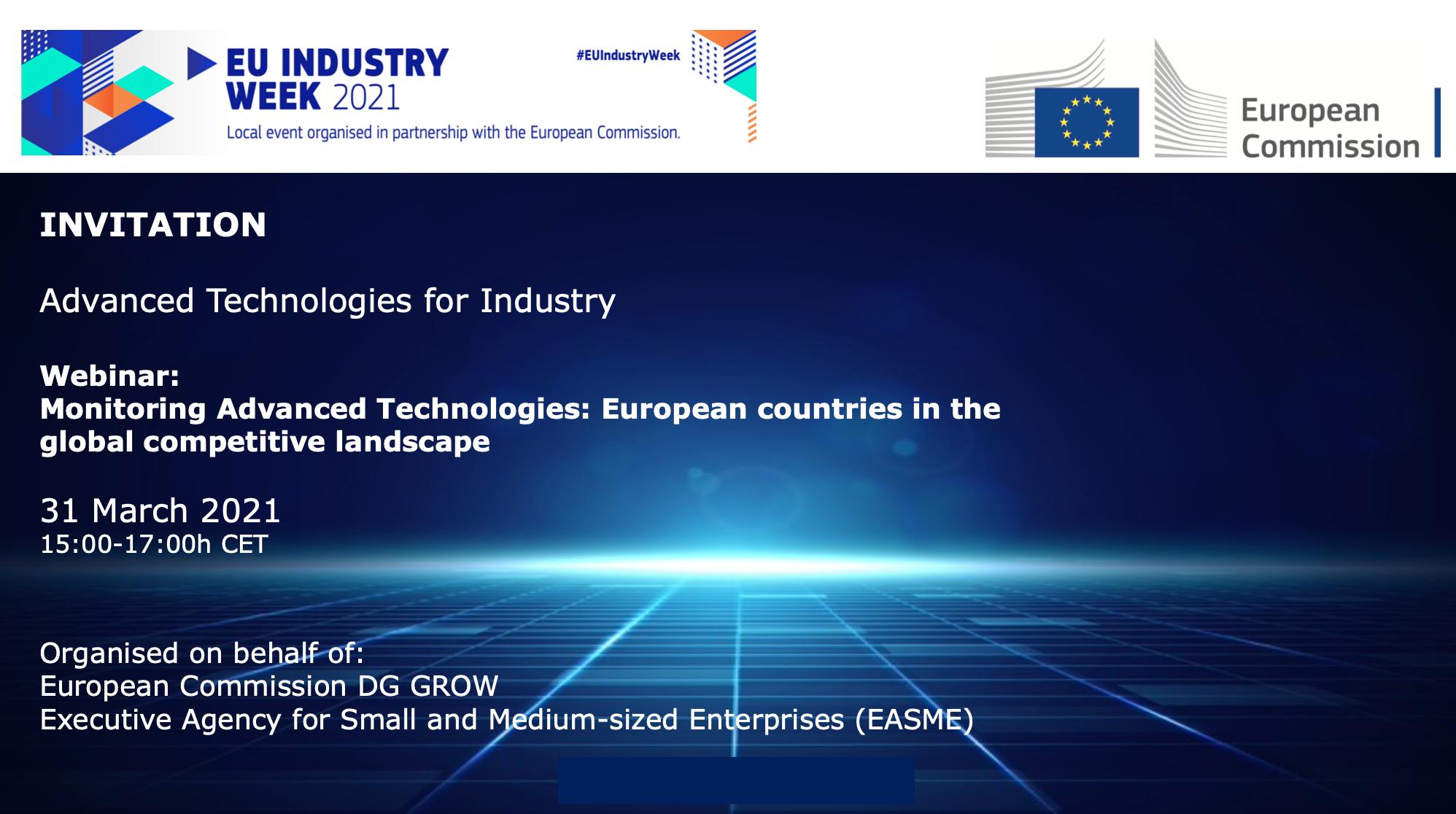Advanced Technologies for Industry Webinar (EU Industry Week 2021)